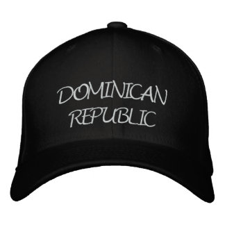 Dominican Republic Embroidered Hat