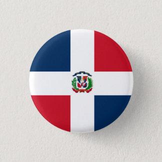 Dominican Republic Flag 1 Inch Round Button