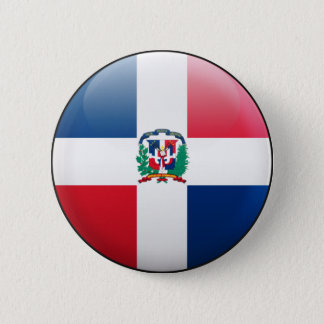 Dominican Republic Flag 2 Inch Round Button