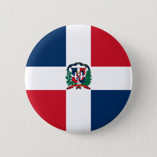 Dominican Republic Flag 2 Inch Round Button