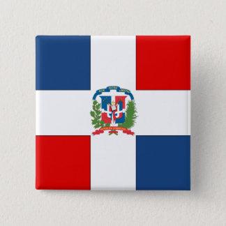 Dominican Republic Flag 2 Inch Square Button