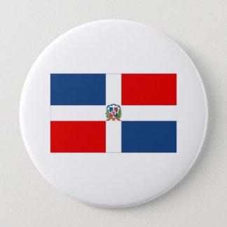 Dominican Republic Flag 4 Inch Round Button