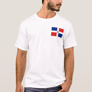 Dominican Republic Flag and Map T-Shirt