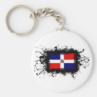 Dominican Republic Flag Basic Round Button Keychain