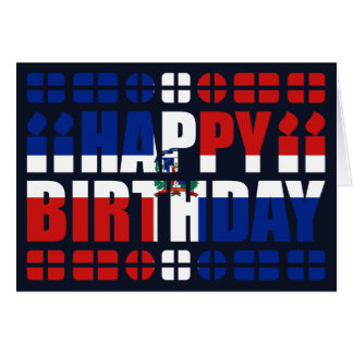 Dominican Republic Flag Birthday Card