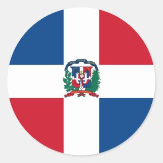 Dominican Republic Flag Classic Round Sticker