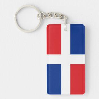 Dominican Republic Flag Double-Sided Rectangular Acrylic Keychain