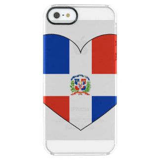 Dominican Republic Flag Heart Clear iPhone SE/5/5s Case
