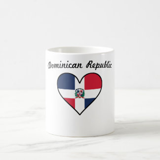Dominican Republic Flag Heart Coffee Mug