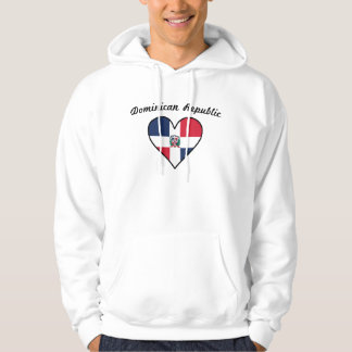 Dominican Republic Flag Heart Hoodie