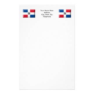 Dominican Republic Flag Jewel Stationery Paper
