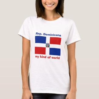 Dominican Republic Flag + Map + Text T-Shirt