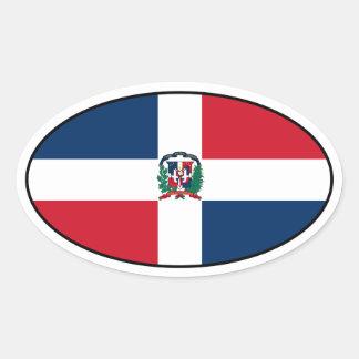 Dominican Republic Flag Oval Sticker