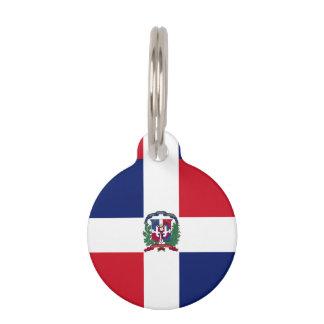 Dominican Republic Flag Pet ID Tag