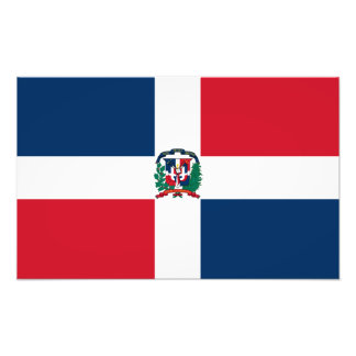 Dominican Republic Flag Photo Print