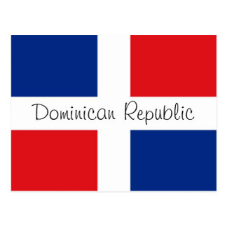 Dominican Republic flag Postcard