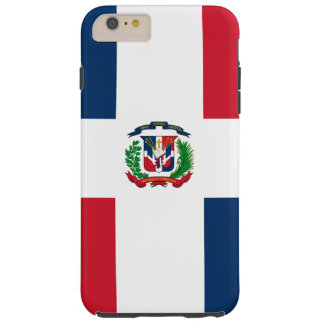 Dominican Republic flag Tough iPhone 6 Plus Case
