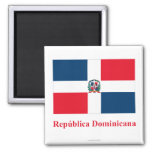 Dominican Republic Flag with Name in Spanish