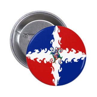 Dominican Republic Gnarly Flag 2 Inch Round Button