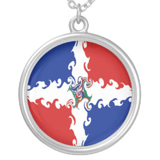 Dominican Republic Gnarly Flag Pendants
