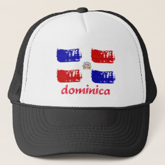 Dominican republic grunge flag trucker hat
