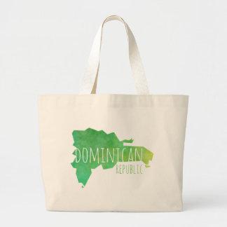 Dominican Republic Large Tote Bag