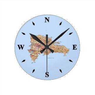 Dominican Republic Map Clock