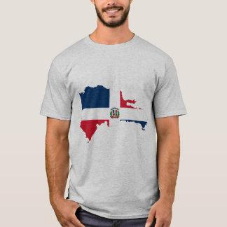Dominican Republic Map Flag T-Shirt