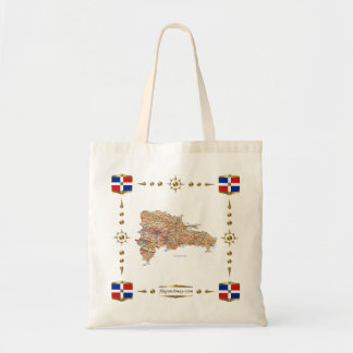 Dominican Republic Map + Flags Bag