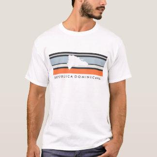 Dominican Republic Map: Modern Stripes T-Shirt