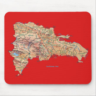 Dominican Republic Map Mousepad