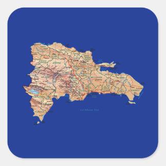 Dominican Republic Map Sticker