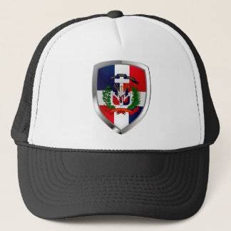 Dominican Republic Mettalic Emblem Trucker Hat
