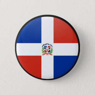 Dominican Republic quality Flag Circle 2 Inch Round Button