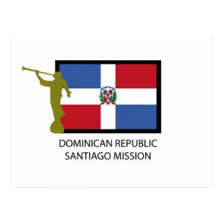 DOMINICAN REPUBLIC SANTIAGO MISSION LDS CTR POSTCARD