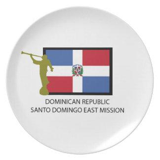 DOMINICAN REPUBLIC SANTO DOMINGO EAST MISSION LDS PLATE