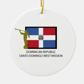 DOMINICAN REPUBLIC SANTO DOMINGO WEST MISSION LDS ROUND CERAMIC ORNAMENT