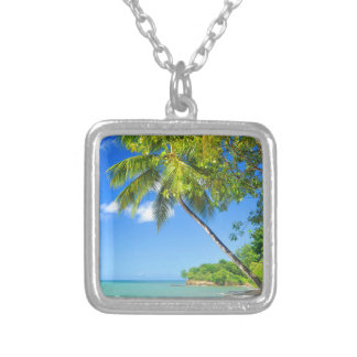 Dominican Republic Silver Plated Necklace