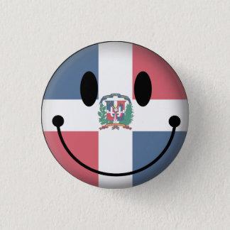 Dominican Republic Smiley 1 Inch Round Button