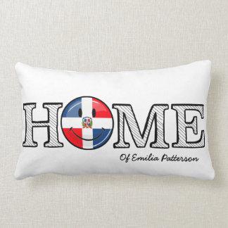Dominican Republic Smiling Flag Housewarming Lumbar Pillow