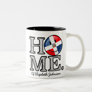 Dominican Republic Smiling Flag Housewarming Two-Tone Coffee Mug