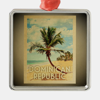 Dominican Republic Vintage Travel Ornament