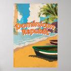 Dominican Republic Vintage vacation Poster