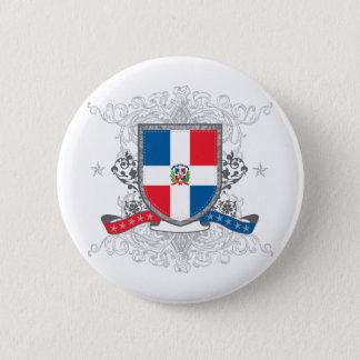 Dominican Shield 2 Inch Round Button