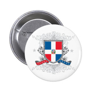 Dominican Shield 2 Inch Round Button