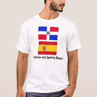 DominicanR_flag, Spain_flag, Dominican and Span... T-Shirt