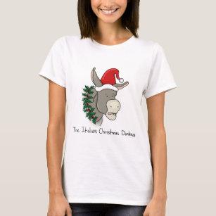dominick the italian christmas donkey t shirt