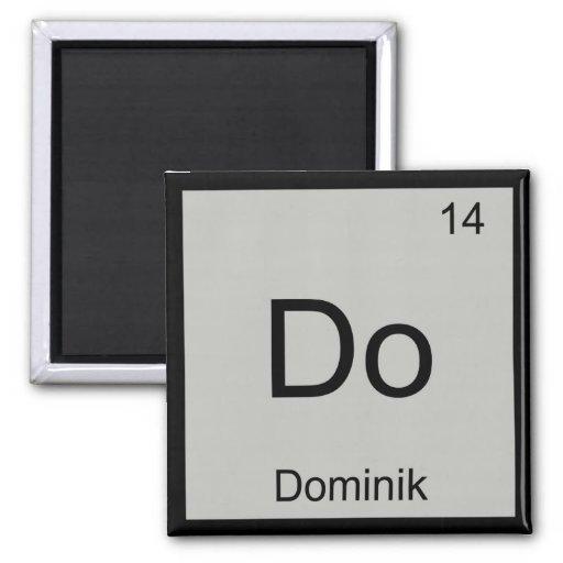 Dominik Name Chemistry Element Periodic Table Fridge Magnets