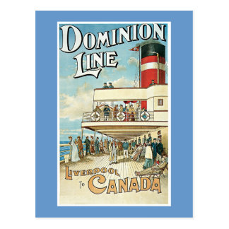 Dominion Line ~ Liverpool to Canada Postcard