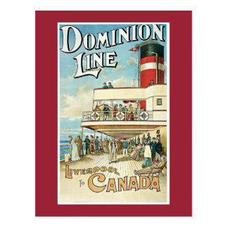 Dominion Line Postcard